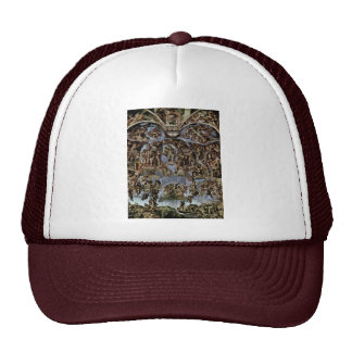 The Doomsday Fresco On The Altar Wall Of The Sisti Trucker Hat
