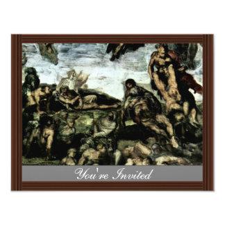 The Doomsday Fresco On The Altar Wall Of The Sisti Custom Invites