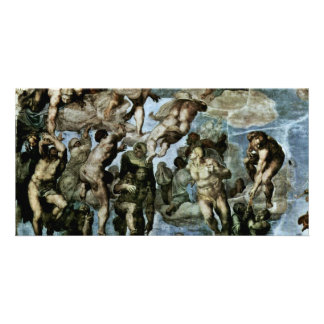 The Doomsday Fresco On The Altar Wall Of The Sisti Picture Card