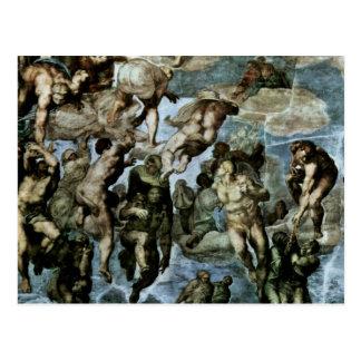 The Doomsday Fresco On The Altar Wall Of The Sisti Postcard