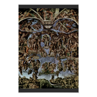 The Doomsday Fresco On The Altar Wall Of The Sisti Poster