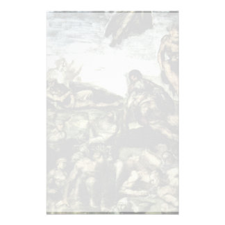 The Doomsday Fresco On The Altar Wall Of The Sisti Personalized Stationery