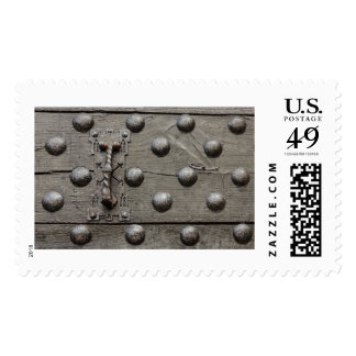the door of a castle postage stamp