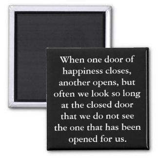 The Door Of Happiness Magnet