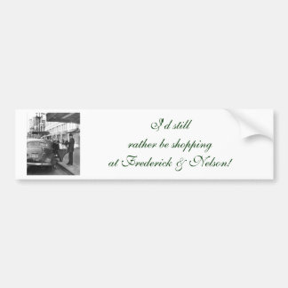 The Doorman at Frederick & Nelson Car Bumper Sticker