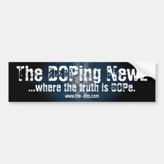 The DOPing Newz Bumper Sticker (Black & Blue)
