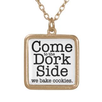The Dork Side Square Pendant Necklace