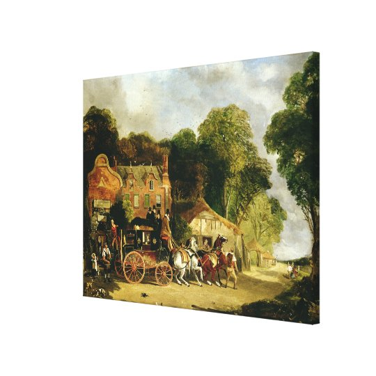 The Dorking and London Royal Mail leaving the 'Mar Canvas Print
