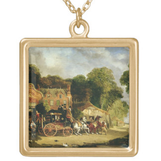 The Dorking and London Royal Mail leaving the 'Mar Square Pendant Necklace