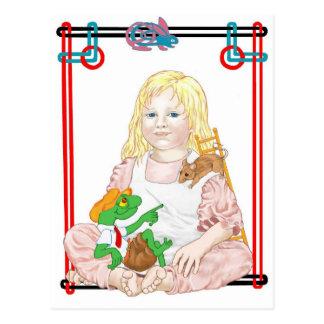 The Dormouse, Bill & Alice Postcard