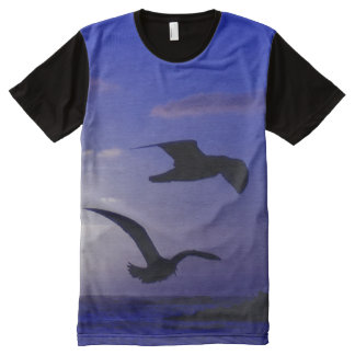 """""""the double bird blues"""" All-Over print t-shirt"""