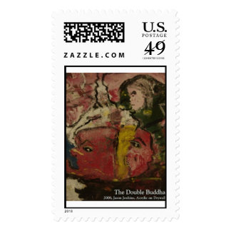 The Double buddha Postage Stamp