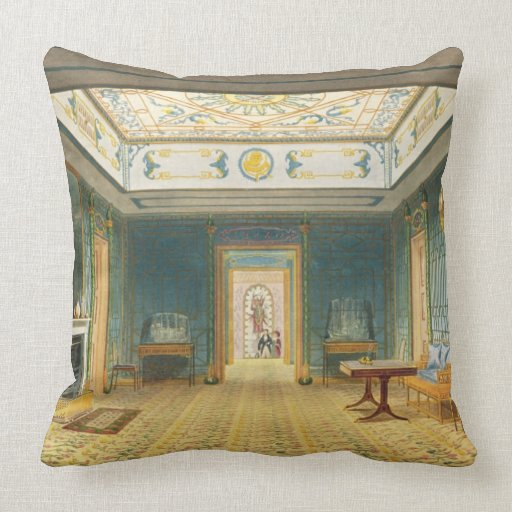 The Double Lobby or Gallery (South) above the Corr Throw Pillow