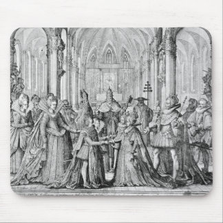 The Double Marriage in Louis XIII  to Anne Mouse Pad