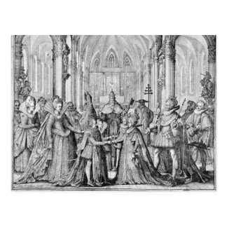 The Double Marriage in Louis XIII  to Anne Postcard
