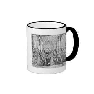 The Double Marriage in Louis XIII  to Anne Ringer Coffee Mug