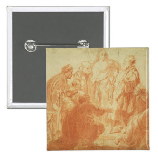 The Doubting Thomas 2 Inch Square Button