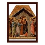 The Doubting Thomas By Duccio Di Buoninsegna Postcard