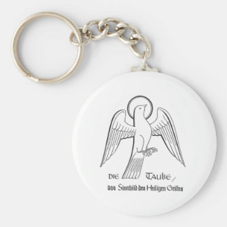 The Dove-the symbol of the Holy Spirit Basic Round Button Keychain