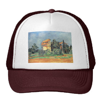 The Dovecote At Bellevue By Paul Cézanne Trucker Hat