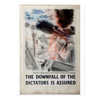The downfall of the Dictators is_Propaganda Poster Postcard
