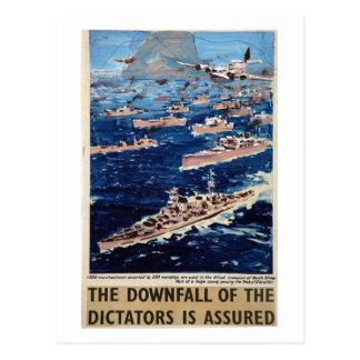 The downfall of the Dictators_Propaganda Poster Postcard