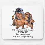 The Doxie Fisherman Mouse Pad