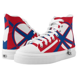 The DR X Portal Designer Red White and Blue Hi-Top