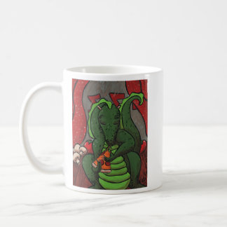 The Dragon and The Pizza Classic White Coffee Mug