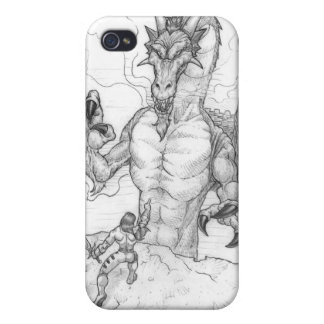 The dragon and the warrior iPhone 4/4S covers