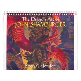 The Dragon Art of 2009 Calender Wall Calendar