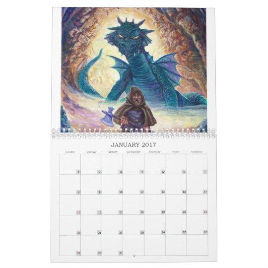 The Dragon Art of 2009 Calender Calendar