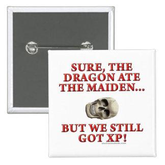 The Dragon Ate the Maiden 2 Inch Square Button