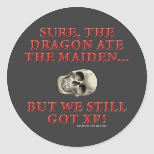 The Dragon Ate the Maiden Classic Round Sticker