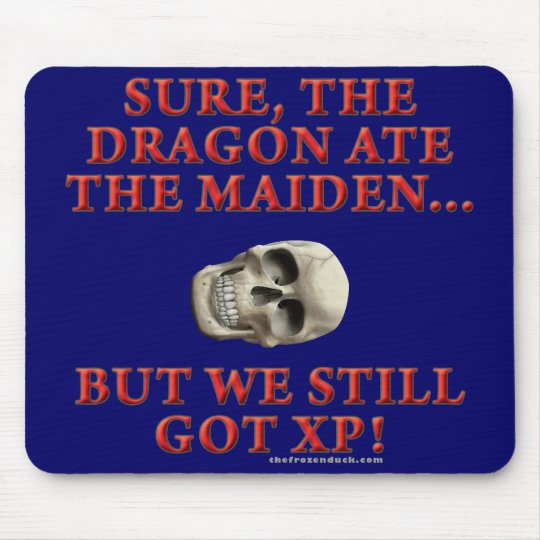 The Dragon Ate the Maiden Mouse Pad