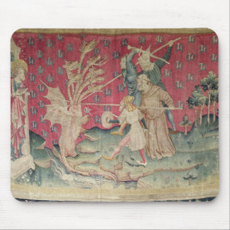 The Dragon Fighting with the Servants of God Mouse Pad
