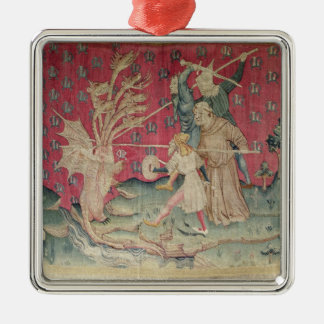 The Dragon Fighting with the Servants of God Christmas Tree Ornaments