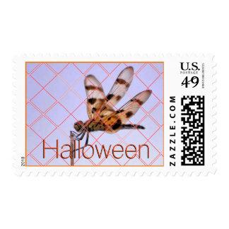 The dragon flies on Halloween Stamp
