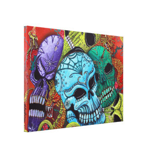 The Dragon Guardians Stretched Canvas Print