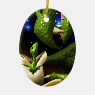 The Dragon Hatchling Ceramic Ornament