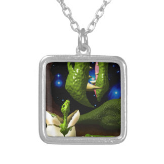 The Dragon Hatchling Silver Plated Necklace