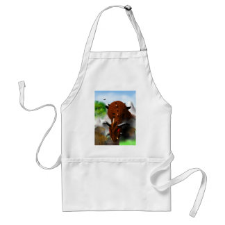 The Dragon in the Village Adult Apron
