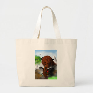 The Dragon in the Village Jumbo Tote Bag