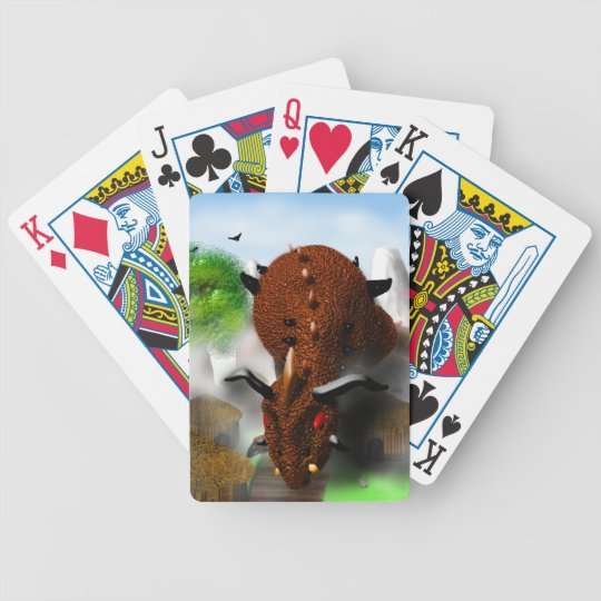 The Dragon in the Village Bicycle Playing Cards