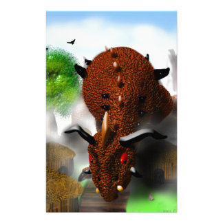 The Dragon in the Village Stationery