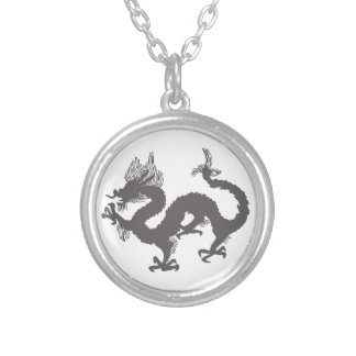 The Dragon Round Pendant Necklace