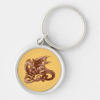 The dragon observes - keychain