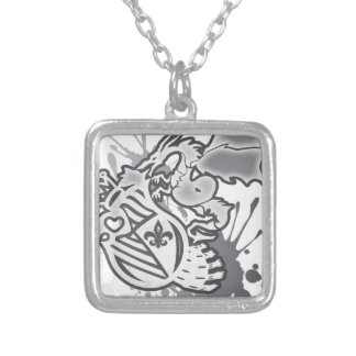 The_Dragon_Strikes Silver Plated Necklace