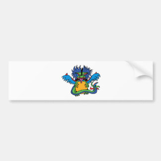the dragon that holds the sun bumper sticker