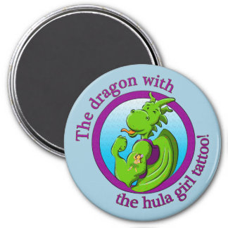 The dragon with the hula girl tattoo magnet